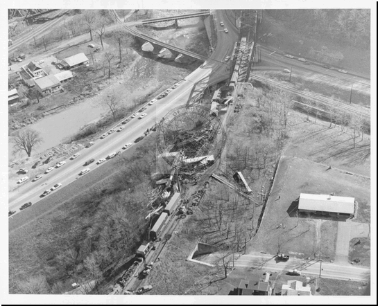 Wreck on B&O Railroad