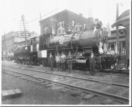 B&O Railroad Engine at Queen City Station