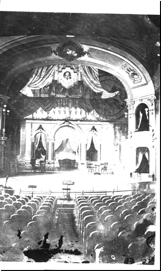 Interior of Academy of Music in City Hall