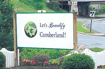 "Sign With Text, ""Let's Beautify Cumberland!"""