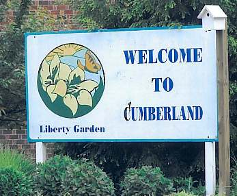 Welcome to Cumberland, Liberty Garden Sign