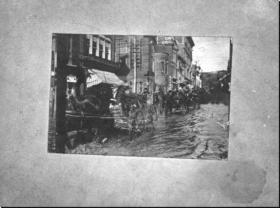 Flood of 1902, Baltimore and Centre Streets