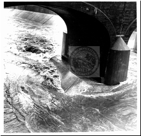 Rushing Water Under Bridge