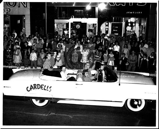 Open-Top Car Driving in a Parade