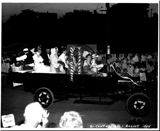 Driving a Car in the Bicentennial Parade