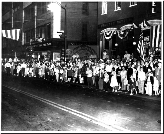 Spectators Gather for the Parade on Baltimore Street