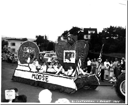 Moose Float in the Bicentennial Parade