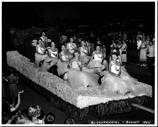 Ladies on a Float in the Bicentennial Parade