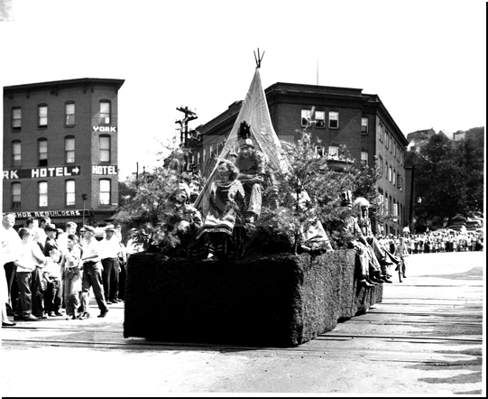 Native American Float in the Parade on Baltimore Street