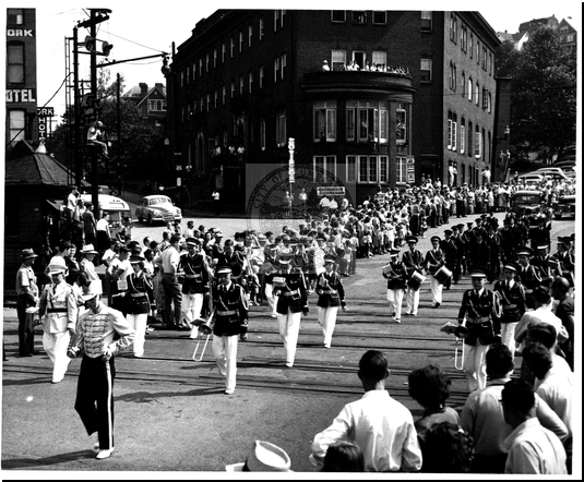 Marching Through the Parade on Baltimore Street