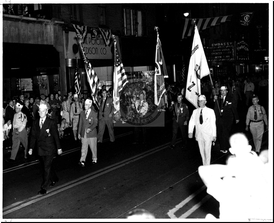 Carrying Flags in the Parade on Baltimore Street