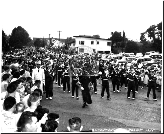 Marching Band in the Bicentennial Parade