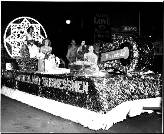 Miss Cumberland on a Float