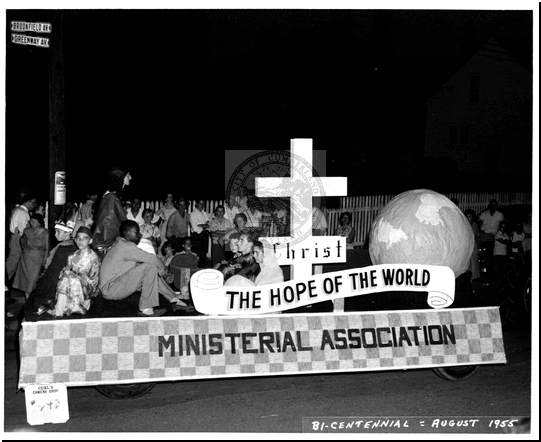 Ministerial Association Float in the Bicentennial Parade