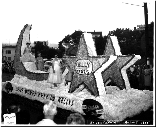 The Kelly Tires Float in the Bicentennial Parade