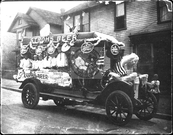 Stroh's Beer Float in Parade