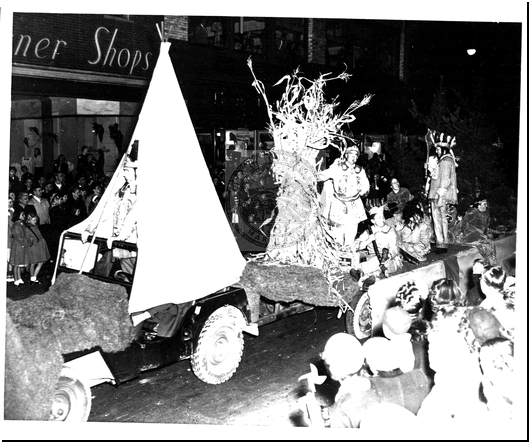 Indian Float in the Bicentennial Parade