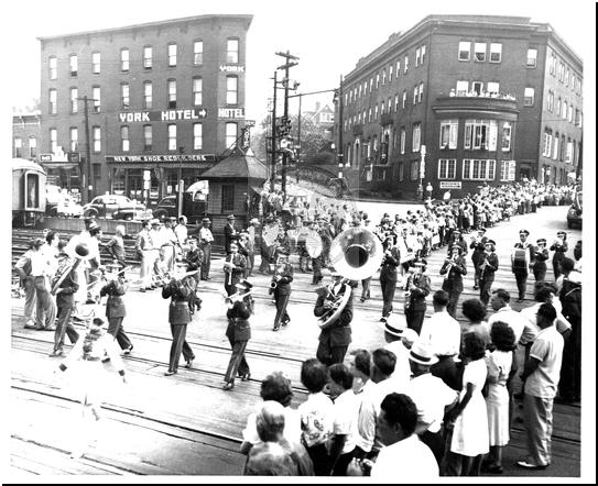 Parade on Baltimore Street Crossing