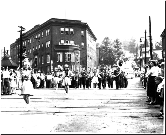 Parade at Baltimore Street Crossing