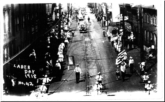 Labor Day Parade on North Centre Street