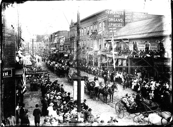 Parade on Baltimore Street at Mechanic Street