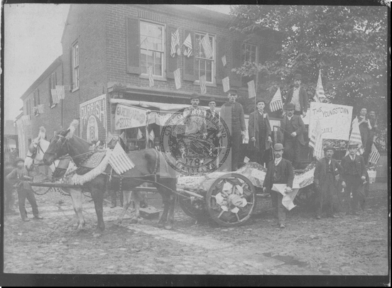 Decorated Horse and Wagon